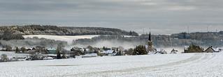 Kalter Wintermorgen in der Eifel bei Masburg