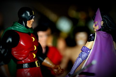 Paprihaven 1303 (MayorPaprika) Tags: canoneosrebelt6i huntress dcdirect birdsofprey drmidnite universe alley back dark fight fire escape generic knockoff bootleg 112 custom diorama toy story paprihaven action figure set 80s 90s theater