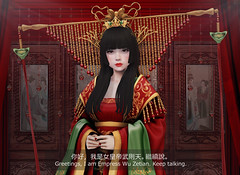 Ruthless Empress (Romi) Tags: zenith amitomo china chinese wu zetian secondlife gaming tang dynasty second life mudskin roleplay