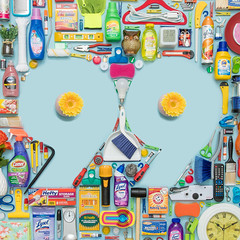Home Sweet Home Goods (J Trav) Tags: 99 thingsorganizedneatly homegoods knolling knoll 99centsonlystores 500x500 items blue color stuff