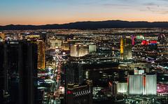Las Vegas Strip at Night (scattered1) Tags: 2017 lasvegas nv nevada observation stratosphere casino deck high hotel light night observationdeck resort skyline tower