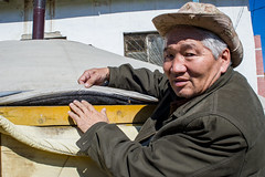 42059-012: Energy Conservation and Emissions Reduction from Poor Household in Mongolia (Asian Development Bank) Tags: mongolia mng ulaanbaatar 42059 42059012 mongolian man old elder elderly senior seniorcitizen ger yurt tent home house housing blanket socialprotection