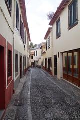 Narrow street (Steenjep) Tags: madeira portugal ferie holiday urlaub funchal street streetlife art color house building shop sign