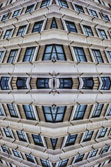 Apartway (Mr Clicker / Davin) Tags: building apartment 4waymirror 4way mirror edit art arty windows kaleidoscope kaleidoscopic