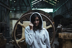 Abandoned Photoshoot (Naomi Rahim (thanks for 4 million visits)) Tags: sydney cockatooisland factory derelict abandoned nsw australia 2017 urbex urbanexplorers photoshoot grunge hoodie industrial female girl nikon nikond7200 vsco normcore