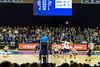 Volleyball Spike (aaronrhawkins) Tags: volleyball byu brighamyounguniversity smithfieldhouse crowd spike bump hit outside net court fans mens ncaa provo utah aaronhawkins
