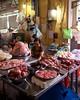 IMGP7854 Fresh Meat at Ben Thanh Market (Claudio e Lucia Images around the world) Tags: market portrait lady smile smiling street hochiminh saigon vietnam pentax streetmarket vendor pentaxk3ii sigma sigma1020 cibo insegna meat carne butcher benthanhmarket benthanh cucina