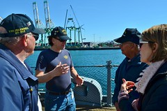 WWII Veteran Leo Garcia visits his ship, USS IOWA (Konabish ~ Greg Bishop) Tags: bb61wwiivet2242018visittohisshipussiowa 75thbirthdayofbattleshipiowa bb61 ussiowa pacificbattleshipcenter portoflosangeles sanpedrocalifornia southerncalifornia warship veteran ussiowacrewman shipmate gregbishopbattleshipiowavolunteershipsphotographer