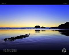 Seaweed Sunset (tomraven) Tags: j5 nikon1 q12018 aravenimage tomraven sun clouds sky sea sand beach sunset seaweed