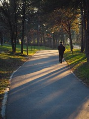 Walk (borisvasilev) Tags: person walking walk park bulgaria travelolympus travelphotography digitalphotography borissnima kazanlak