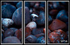 Pebbles.Triptych. . (Picture post.) Tags: pebbles triptych nature green stone
