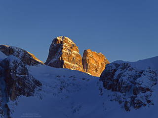 Last light at Zwölferkofel