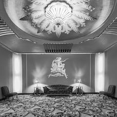 Paramount Theater (Laura Macky) Tags: paramounttheater artdeco blackandwhite bw architecture