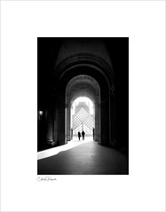 Louvre, Paris (Charlie Pragnell) Tags: louvre paris arcg architecturalphotography architecture fineartphotography bnw blackwhitefineart olympusuk olympus918mm archways museum