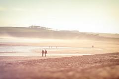 The beach (Pog's pix) Tags: sliderssunday beach lunanbay scotland sea sand people atmospheric bay sky water coast montrose angus mist haze hazy