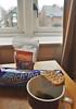Breakfast, Oxford, UK (Nuruliawati Yuwono) Tags: biscuit almond tea gloom rainy room