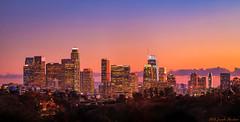 Los Angeles Skyline Sunset (JosephHaubert) Tags: losangeles losangelesskyline downtownlosangeles losangelesskylinesunset jo josephhaubertphotography cityscapephotography cityscape