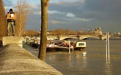 Crue Port des Champs Elysées (Raymonde Contensous) Tags: paris seine crueseineparis crueseine2018 paysage nature eau portdeschampselysées quais