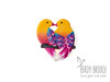 Lover birds Alan & Holly - handmade brooch (EvraZhka Studio) Tags: polymerclay brooch bird birdy birds couple lover love valentine day valentines bright colorful yellow pink gift box jewelry jewellery