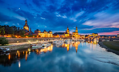 _MG_2339 - Dresden Altstadt skyline (AlexDROP) Tags: 2017 dresden saxony germany deutschland travel architecture city urban daytime circpl canon6d ef241054lis best iconic panoramic skyline famous mustsee picturesque postcard europe color castle bluehour elbe river