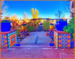 The patio.... (Sherrianne100) Tags: motherroad route66 winslow colorful patio picturesque quaint laposada winslowaz arizona