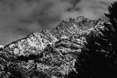 View from Gressoney St.Jean (W@nderluster) Tags: eos alpi snow winter hiver mountain 50mm gressoney aosta canon travel street holiday inverno neve cloud snowscape italia mono exploring weather cloudy