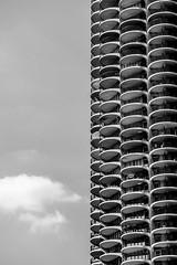 This is Called Marina City by Thomas Hawk (Thomas Hawk) Tags: america bertrandgoldberg chitown chicago illinois marinacity usa unitedstates unitedstatesofamerica architecture bw us fav10 fav25 fav50 fav100