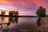 Sunset @ river Loire, France (Henk Verheyen) Tags: campingbellevue france frankrijk loire muidessurloire zonsondergang zomervakantie fr serene sunset water river tree sky red stone