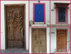 Doors<>Portes ( Mexico) (France-♥) Tags: door porte collage mexique architecture building wall puerta