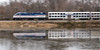 12-7572cr 1x2 (George Hamlin) Tags: virginia featherstone railroad passenger train railway express vre 303 water reflection ice mpc36ph3c diesel locomotive v69 bilevel coach gallery cart trees embankment pan shot photo decor george hamlin photography