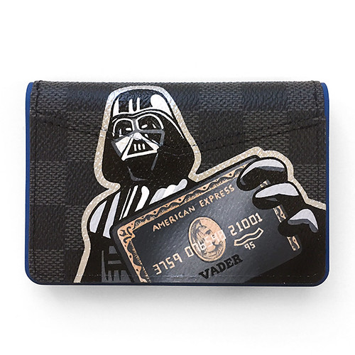 Louis Vuitton wallet darth Vader amex mc scrooge -2