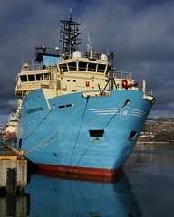 Maersk Nomad (wespfoto) Tags: maersk maersknomad stjohns newfoundland canada offshore tug anchorhadling harbour moored wharf pier berth