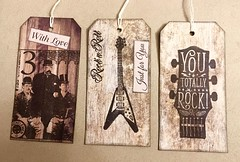 3 tags for a man swap (CraftyBev) Tags: stamping backingpapers male swap tags