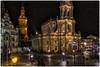 Hofkirche Dresden (Heinze Detlef) Tags: dresden hofkirche kirche nacht beleuchtung gotteshaus gebäude architektur