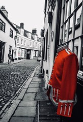 53/365 Red (denise.ferley) Tags: colourpop life thisisnorwich thisisengland oneaday militaryjacket military clothing vintage elmhillnorwich citylife streetphotography norwich red