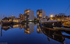 Blue hour mirror (koos.dewit) Tags: nl 2018 groningen groningenoosterhaven koosdewit le oosterhaven thenetherlands bluehour boats cityscape harbor koosdewitnl longexposure reflections ships water