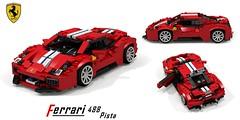 Ferrari 488 Pista Berlinetta (Geneve 2018) (lego911) Tags: ferrari 488 pista berlinetta coupe 2018 geneva italy italian v8 turbo turbocharged 2010s auto car moc model miniland lego lego911 ldd render cad povray