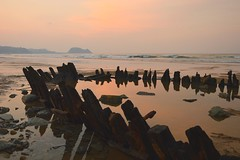 Playa de Zarautz (gorka.hoyos) Tags: zarautz zarauz guetaria getaria gipuzkoa hondartza playa mar ratón arena sea cielo paisaje agua