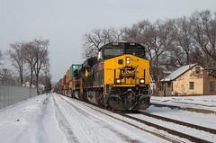 Party on 5th Street (Jake Branson) Tags: train railroad locomotive ge es44ac gevo iais iowa interstate davenport quad cities street running snow winter 514