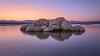 Rocas (Victor Aparicio Saez) Tags: rocas atardecer horaazul reflejos embalsedevalmayor agua alairelibre azul aguasedosa largaexposición amanecer blue paisaje landscape naturaleza