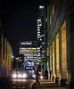 Canary Wharf (London Less Travelled) Tags: uk unitedkingdom england britain london night nighttime darkness dark canarywharf dockland statestreet financial bus