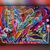 Musical Heart Song (MattCrux) Tags: psychedelic lsdtrip acid abstract trippy colorful rainbow lsd strange weird drug drugs weed high trip love acrylic painting acrylicpainting traditional canvas paint painted artist drawing illustration art arts expressive different beautiful artsy creativity creative