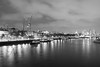 Victoria Embankment (mukundbhudia) Tags: river thames nightscape city london embankment bw dark black