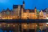 City Gate reflection (kchest) Tags: nightscape danzig europe poland citygate traveler worldtraveler