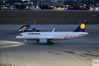 Lufthansa A320-271NEO D-AINE taxiing at STR/EDDS