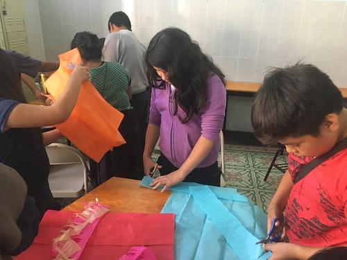 En pleine préparation du papel china