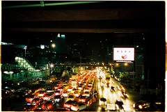 traffic (subway rat) Tags: olympus μmjuii olympusmjuii mjuii mju2 35mm film analog filmphotography analogphotography bangkok thailand asia agfa vista400 agfavista400 filmforever filmisnotdead filmcamera shootfilm ishootfilm staybrokeshootfilm streetphotography night nightshot