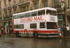 JGU275K, Oxford, 06/03/82 (aecregent) Tags: oxford 060382 oxfordsouthmidland coms cityofoxfordmotorservices daimler fleetline dms dms275 jgu275k oxfordmail pr parkroyal