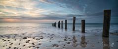 2017 - 12-28 - Widescreen - Moana - Sunset 03.jpg (stevenlazar) Tags: pylons beach ocean sunset australia colour water moana waves jettyruins adelaide 2017 southaustralia clouds