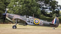 Supermarine Spitfire MK11A. P7350. (Nigel Paine) Tags: lashenden headcorn egkh supermarinespitfire spitfire warbird p7350 bbmf battleofbritainmemorialflight panning panningshot canon7dmkii tamronsp150600mm